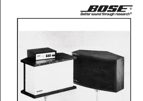 BOSE 901 I 901 II SPEAKER AND EQUALIZER SERVICE MANUAL INC WIRING DIAG SCHEM DIAGS AND PARTS LIST 15 PAGES ENG
