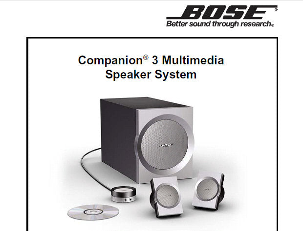Bose Companion 3 Series I Early Version Later Version