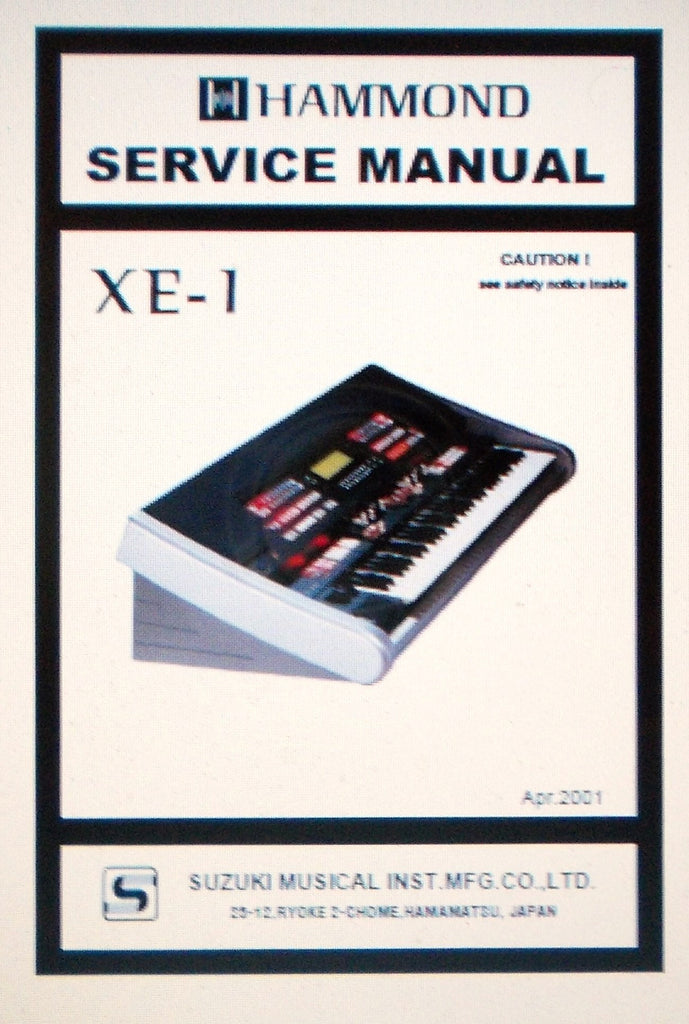 HAMMOND XE-1 KEYBOARD SERVICE MANUAL INC SCHEMS 46 PAGES ENG