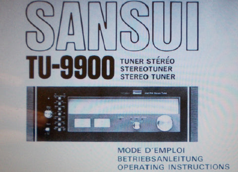 SANSUI TU-9900 AM FM STEREO TUNER OPERATING INSTRUCTIONS 40 PAGES ENG FRANC DEUT