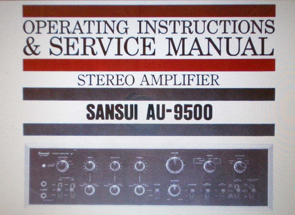 Sansui au-9500 manual stereo integrated amplifier hifi engine.