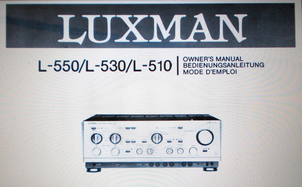 luxman l 510 l 530 l 550 stereo integrated amplifier owner. Black Bedroom Furniture Sets. Home Design Ideas