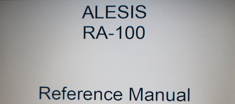 ALESIS RA100 STEREO POWER AMP REFERENCE MANUAL INC CONN DIAGS AND TRSHOOT GUIDE 27 PAGES ENG