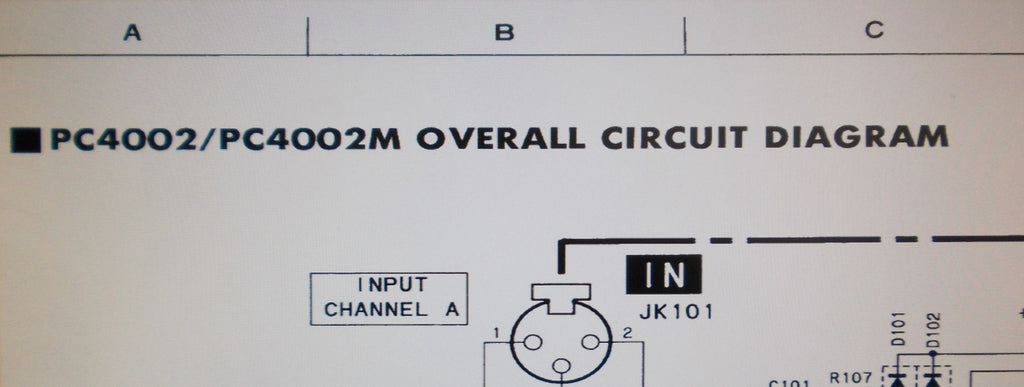 YAMAHA PC4002 PC4002M PRO SERIES STEREO POWER AMP SCHEMATIC ... on