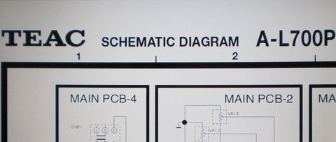 TEAC A-L700P STEREO POWER AMP SCHEMATIC DIAGRAMS 4 PAGES ENG