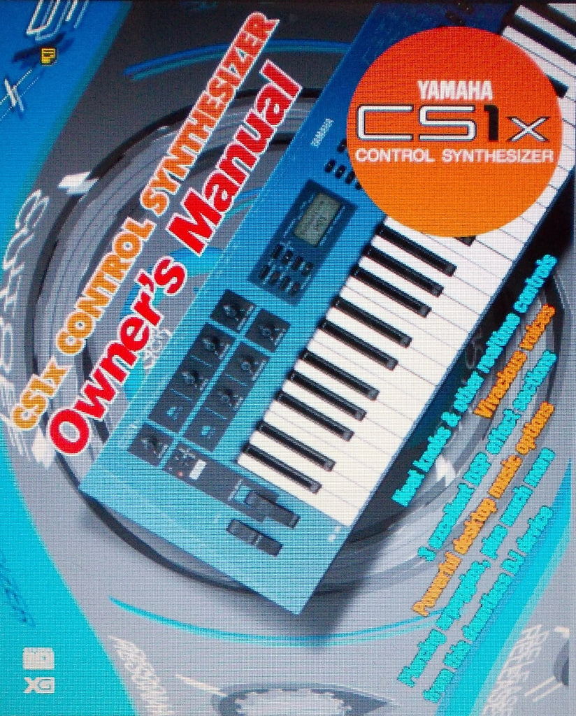 YAMAHA CS1X CONTROL SYNTHESIZER OWNER'S MANUAL INC CONN DIAG AND TRSHOOT GUIDE 64 PAGES ENG