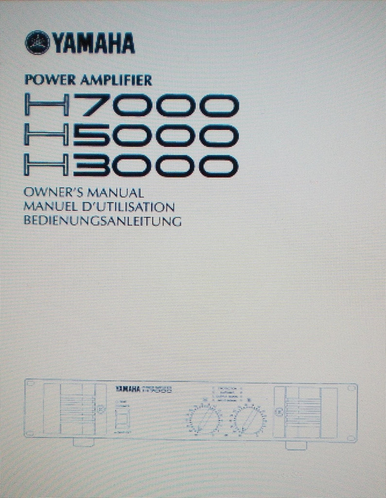 YAMAHA H3000 H5000 H7000 STEREO POWER AMP OWNER'S MANUAL INC BLK DIAG 19 PAGES ENG