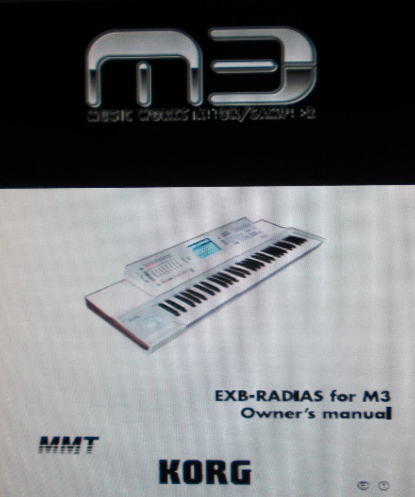 KORG M3 MUSIC WORKSTATION SAMPLER EXB RADIUS FOR M3 OWNER'S MANUAL 78 PAGES ENG
