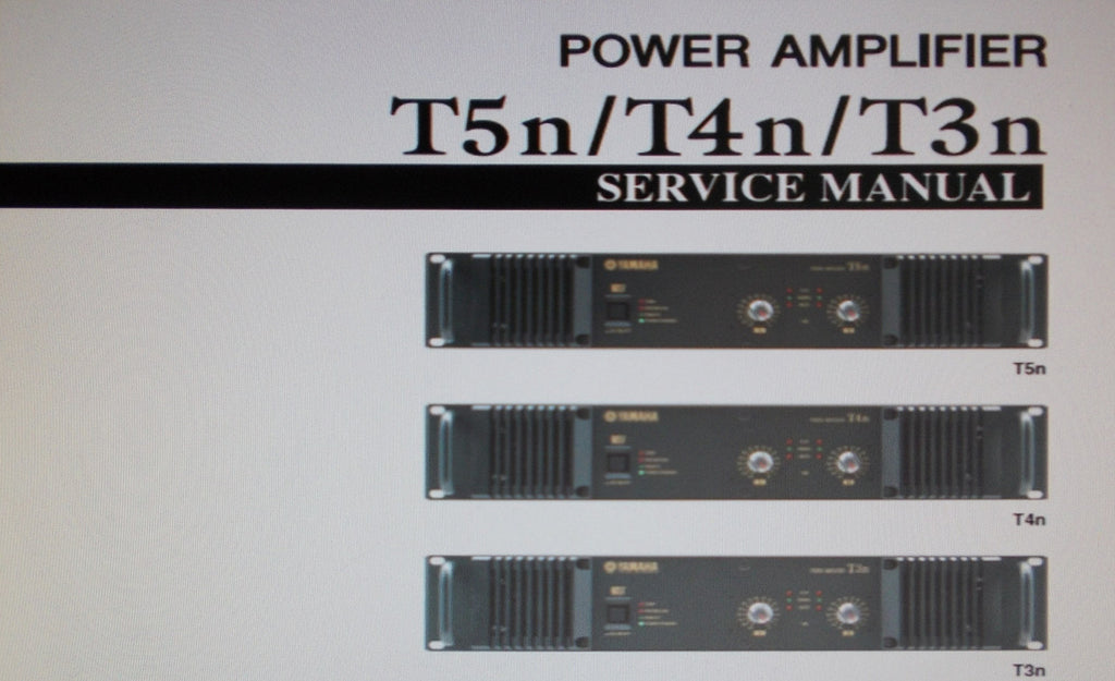 YAMAHA T3n T4n T5n STEREO POWER AMP SERVICE MANUAL INC BLK DIAG SCHEMS PCBS AND PARTS LIST 107 PAGES ENG
