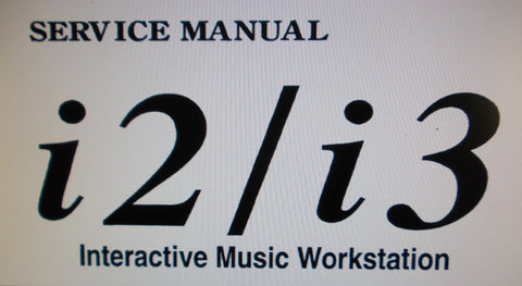 KORG i2 i3 INTERACTIVE MUSIC WORKSTATION SERVICE MANUAL INC BLK DIAG SCHEMS PCBS AND PARTS LIST 90 PAGES ENG