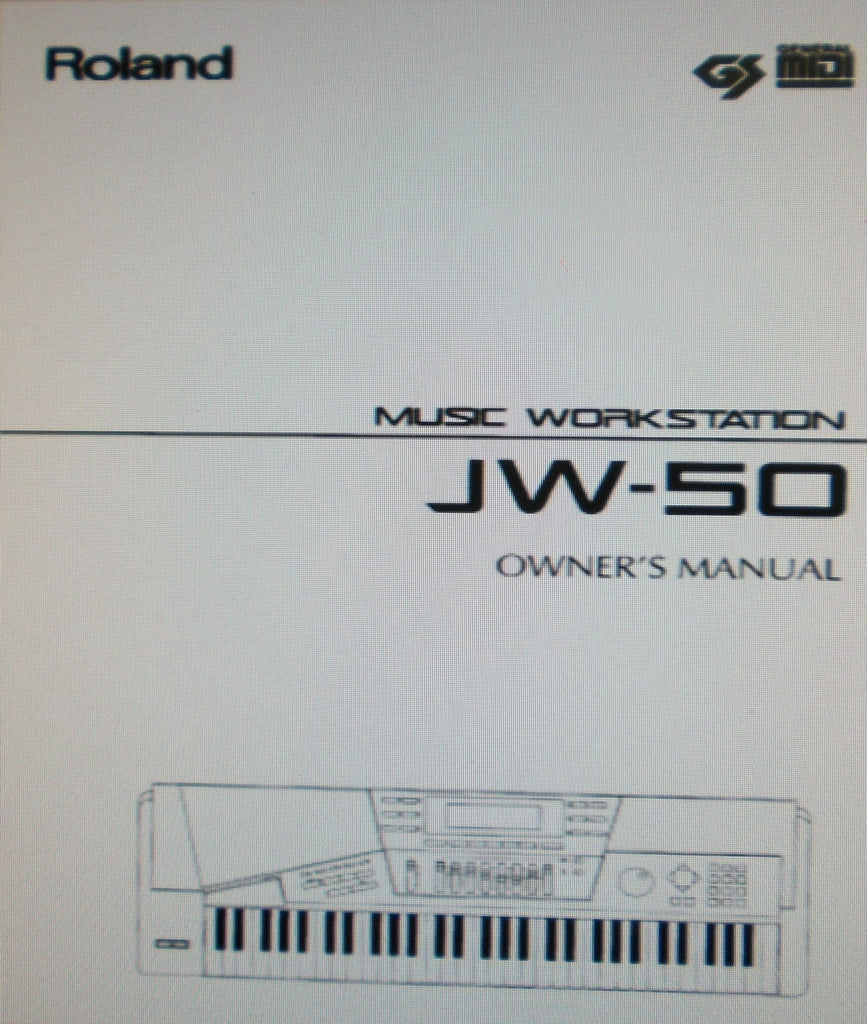 ROLAND JW-50 MUSIC WORKSTATION OWNER'S MANUAL INC CONN DIAGS MIX DIAGS QUICK START GUIDE AND TRSHOOT GUIDE 260 PAGES ENG