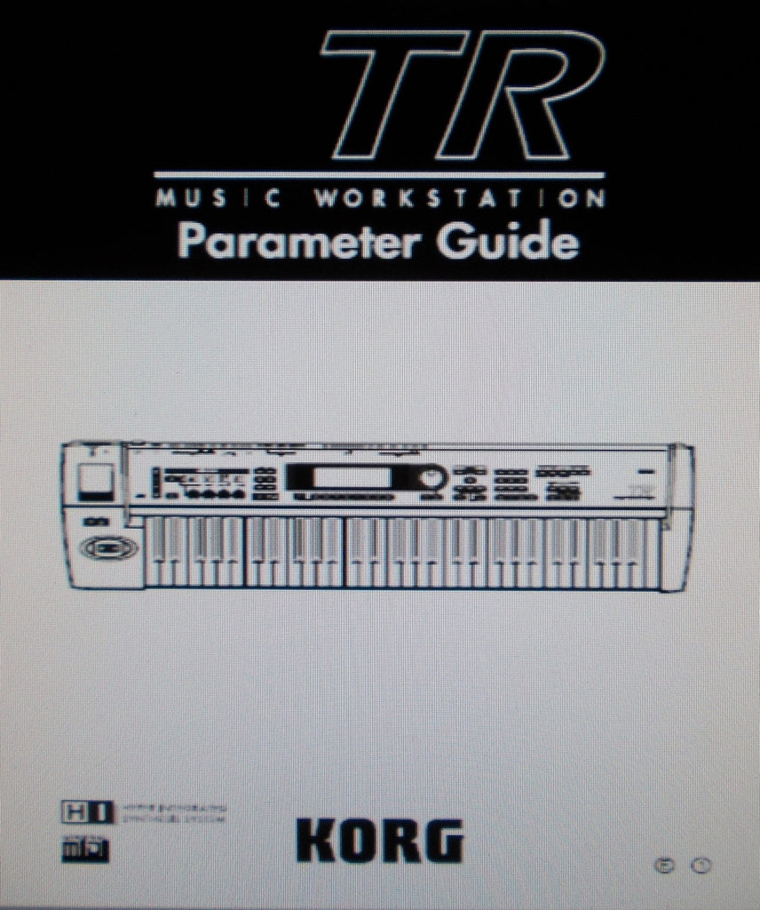 KORG TR MUSIC WORKSTATION PARAMETER GUIDE 281 PAGES ENG