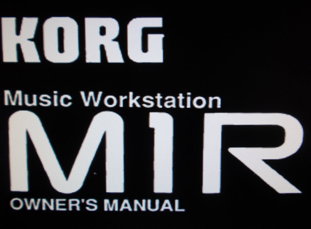 KORG M1R MUSIC WORKSTATION OWNER'S MANUAL 136 PAGES ENG