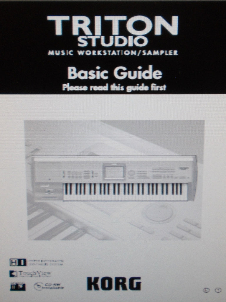 KORG TRITON STUDIO MUSIC WORKSTATION SAMPLER BASIC GUIDE INC CONN DIAG AND TRSHOOT GUIDE 167 PAGES ENG