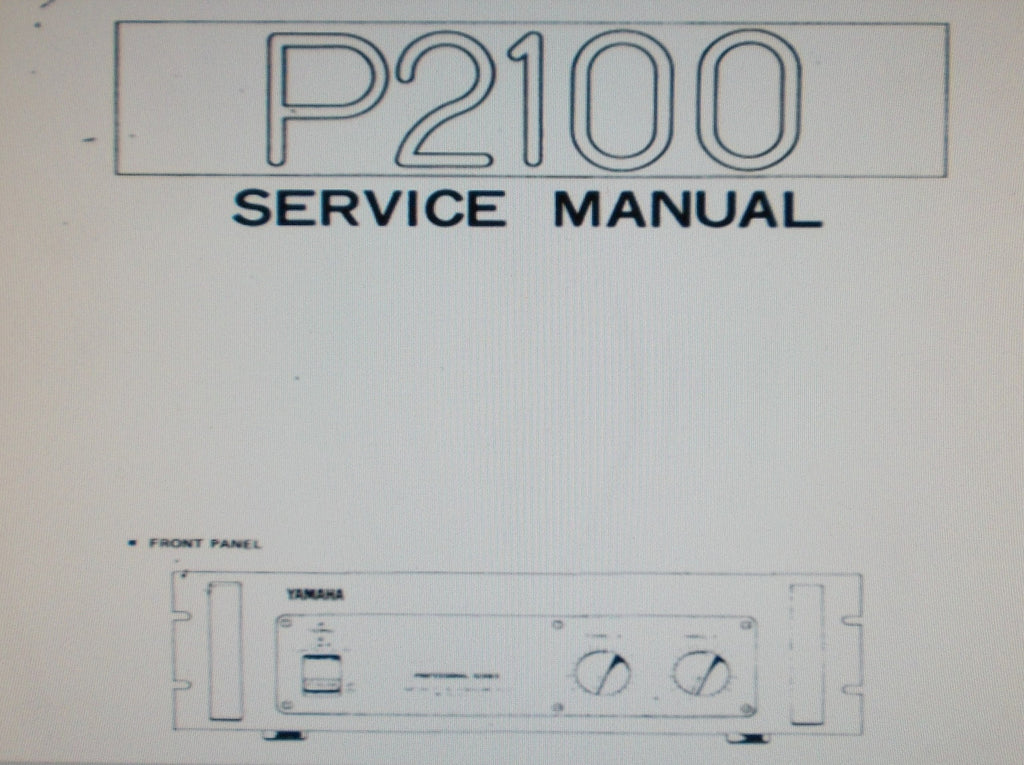 YAMAHA P2100 PRO SERIES STEREO POWER AMP SERVICE MANUAL INC SCHEM DIAG WIRING DIAG PCBS AND PARTS LIST 13 PAGES ENG