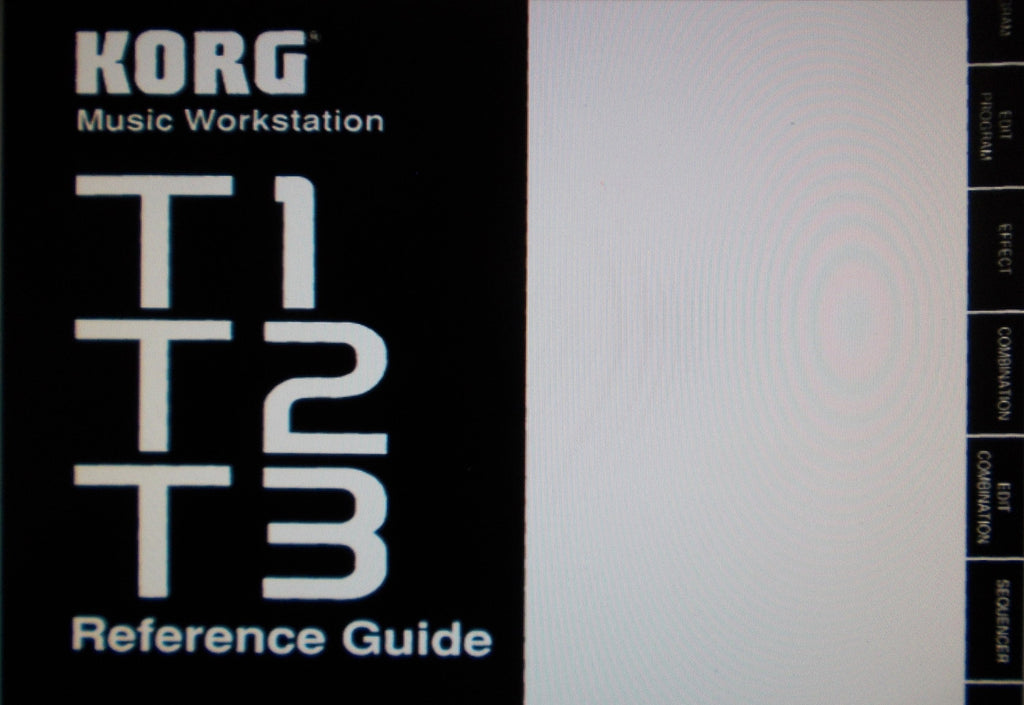 KORG T1 T2 T3 MUSIC WORKSTATION REFERENCE GUIDE INC TRSHOOT GUIDE 163 PAGES ENG