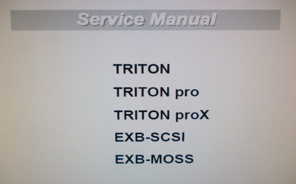 KORG TRITON TRITON PRO TRITON PROX EXB-SCSI EXB-MOSS SERVICE MANUAL INC BLK DIAGS SCHEMS PCBS AND PARTS LIST 44 PAGES ENG