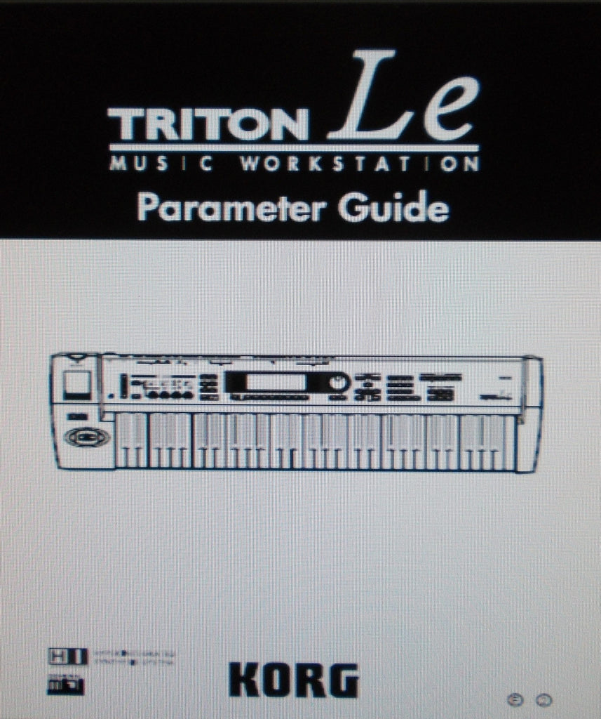 KORG TRITON LE MUSIC WORKSTATION PARAMETER GUIDE INC BLK DIAGS 269 PAGES ENG