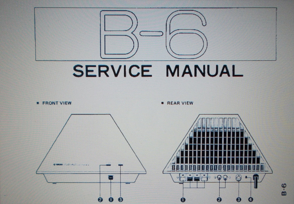 YAMAHA B-6 STEREO POWER AMP SERVICE MANUAL INC BLK DIAG CIRC DIAGS SCHEMS PCBS AND PARTS LIST 25 PAGES ENG