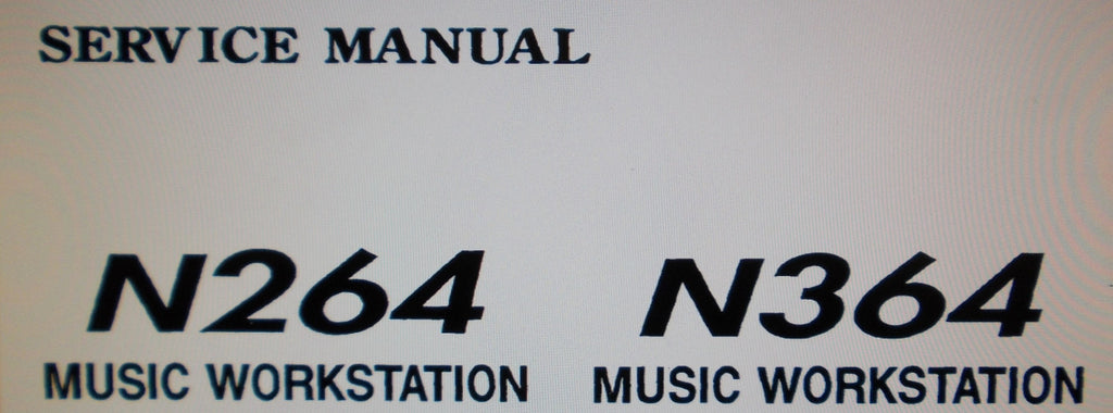 KORG N264 N364 MUSIC WORKSTATION SERVICE MANUAL INC BLK DIAG SCHEMS AND PARTS LIST 14 PAGES ENG