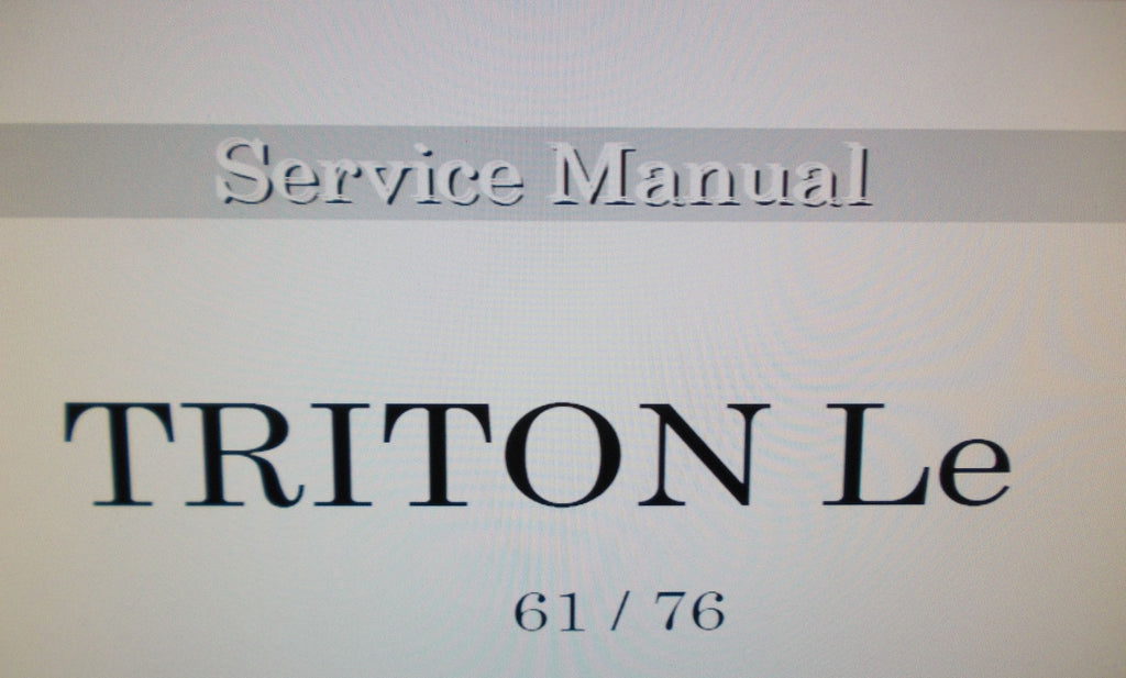 KORG TRITON LE MUSIC WORKSTATION SERVICE MANUAL INC TEST MODE BLK DIAGS SCHEMS AND PARTS LIST 20 PAGES ENG