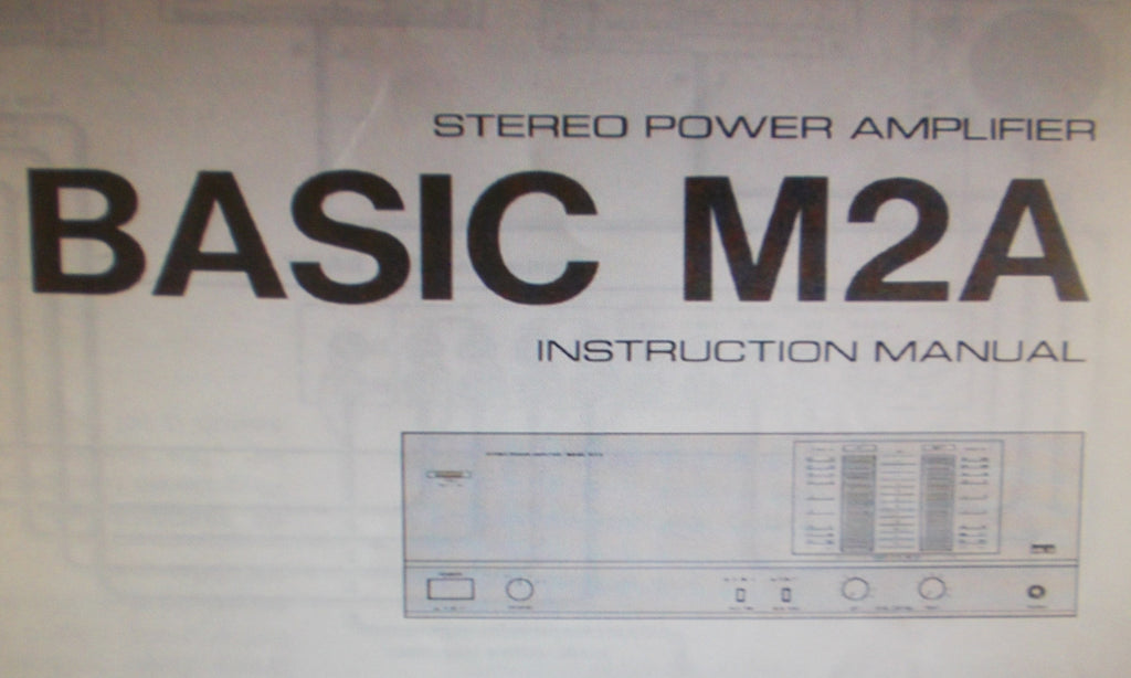 KENWOOD BASIC M2A STEREO POWER AMP INSTRUCTION MANUAL INC CONN DIAG BLK DIAG AND TRSHOOT GUIDE 8 PAGES ENG