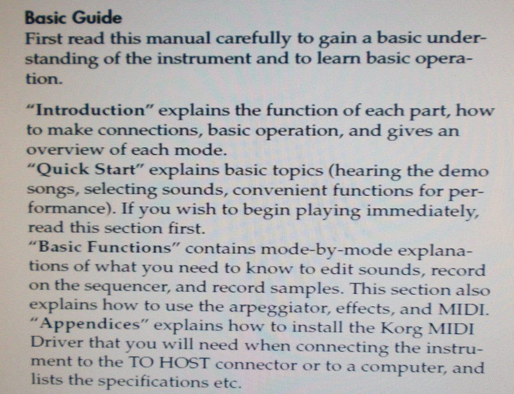 KORG TRITON TRITON PRO TRITON PROX BASIC GUIDE INC CONN DIAG AND TRSHOOT GUIDE 144 PAGES ENG