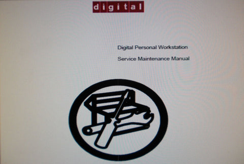 DIGITAL EQUIPMENT CORPORATION DIGITAL PERSONAL WORKSTATION SERVICE MAINTENANCE MANUAL 176 PAGES ENG