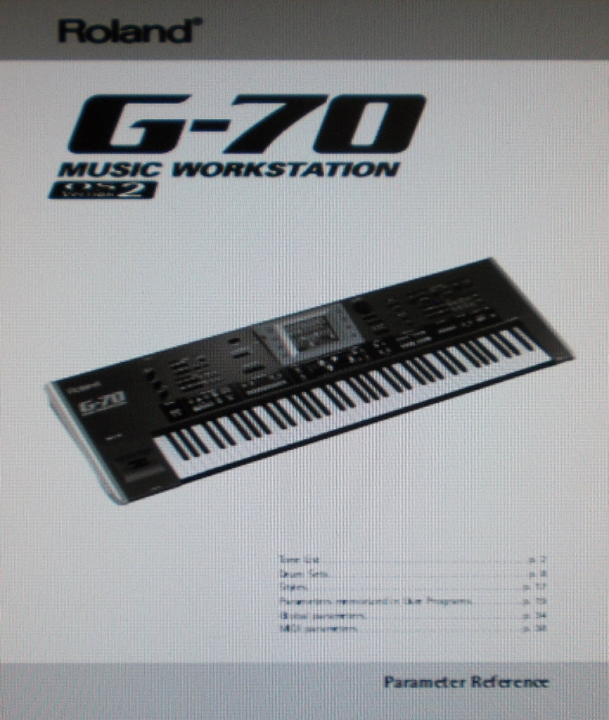 ROLAND G-70 MUSIC WORKSTATION PARAMETER REFERENCE VERSION 2 40 PAGES ENG