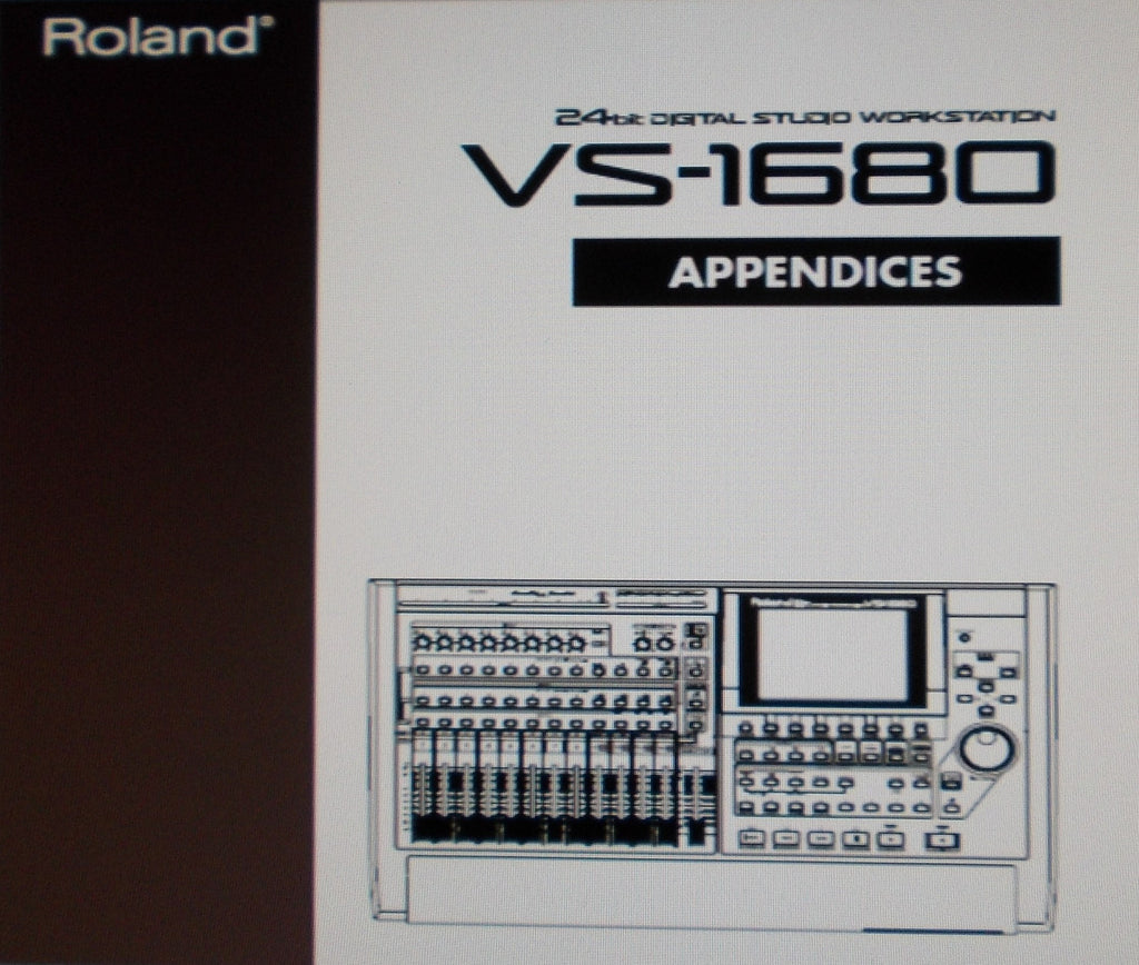 ROLAND VS-1680 DIGITAL STUDIO WORKSTATION APPENDICES INC BLK DIAGS AND TRSHOOT GUIDE 136 PAGES ENG