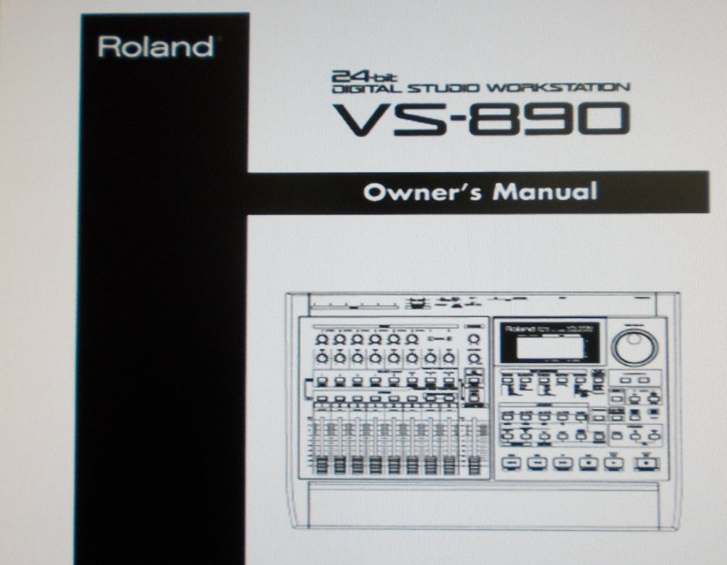ROLAND VS-890 DIGITAL STUDIO WORKSTATION OWNER'S MANUAL INC BLK DIAGS AND CONN DIAGS 220 PAGES ENG
