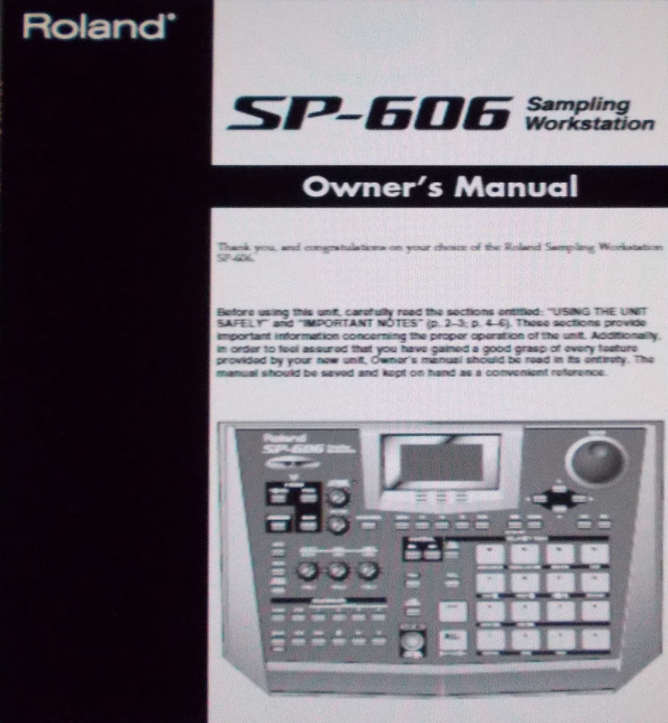 ROLAND SP-606 SAMPLING WORKSTATION OWNER'S MANUAL INC CONN DIAGS AND TRSHOOT GUIDE 104 PAGES ENG