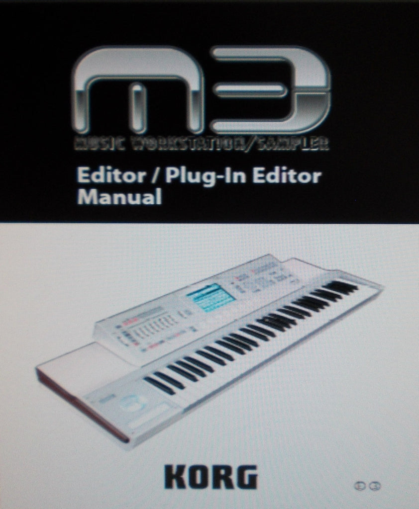 KORG M3 MUSIC WORKSTATION SAMPLER EDITOR PLUG IN EDITOR MANUAL INC TRSHOOT GUIDE 63 PAGES ENG