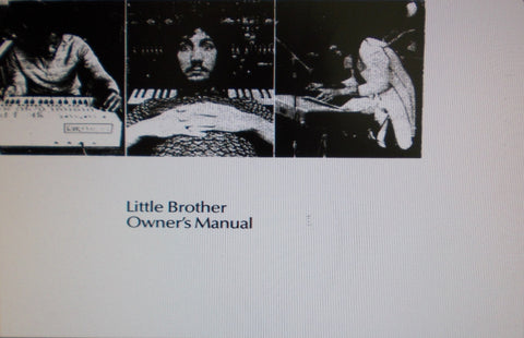 ARP LITTLE BROTHER SYNTHESIZER EXPANDER OWNER'S MANUAL INC CONN DIAGS AND PATCH CHARTS 36 PAGES ENG