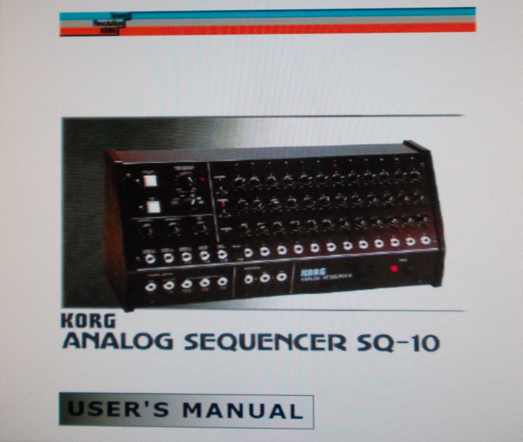 KORG SQ-10 ANALOG SEQUENCER USER'S MANUAL 12 PAGES ENG