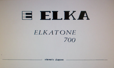 ELKA ELKATONE 700 ORGAN SET OF SCHEMATIC DIAGRAMS AND PCBS 10 PAGES ENG