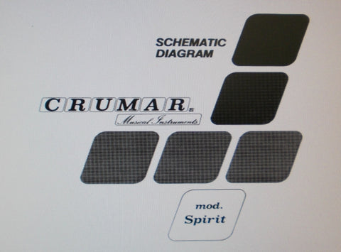 CRUMAR SPIRIT SYNTHESIZER SET OF SCHEMATIC DIAGRAMS PCBS AND PARTS LIST 11 PAGES ENG