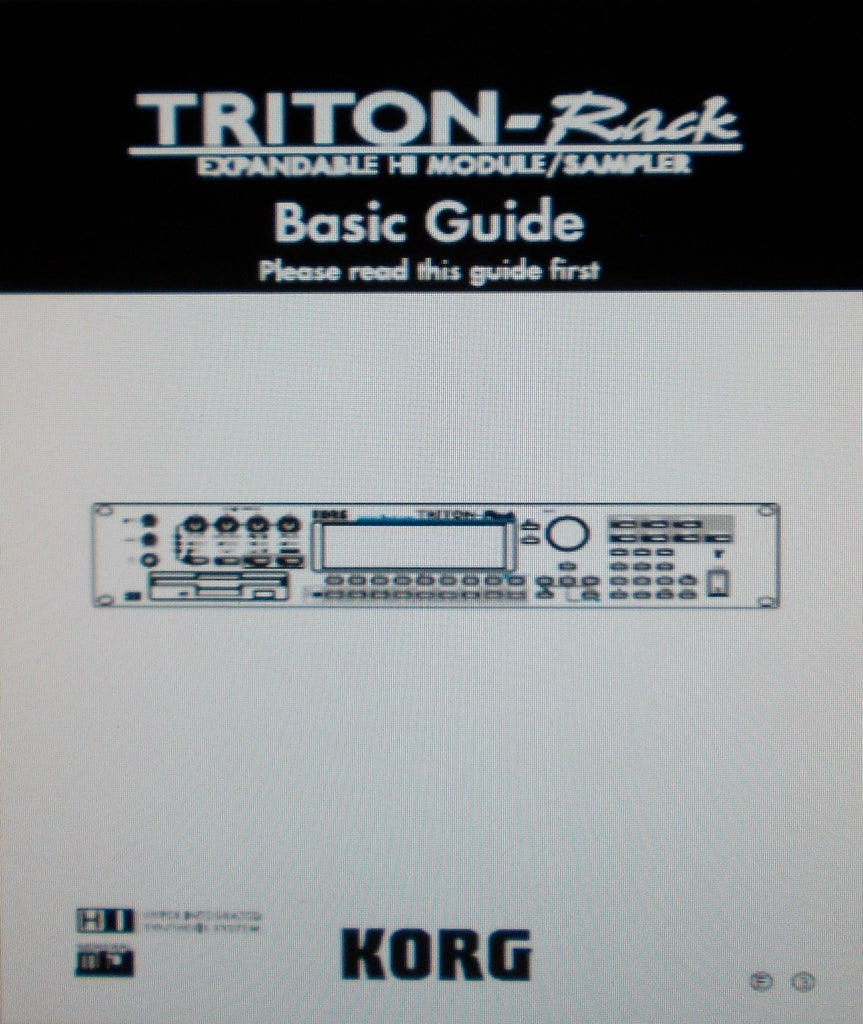 KORG TRITON-RACK EXPANDABLE HI MODULE SAMPLER BASIC GUIDE INC CONN DIAGS AND TRSHOOT GUIDE 118 PAGES ENG