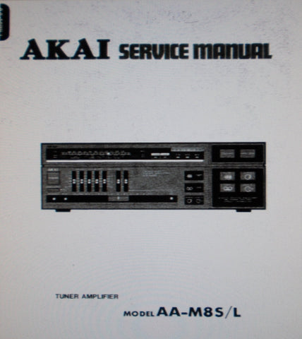 AKAI AA-M8S AA-M8L TUNER AMP SERVICE MANUAL INC SCHEMS PCBS AND PARTS LIST 31 PAGES ENG