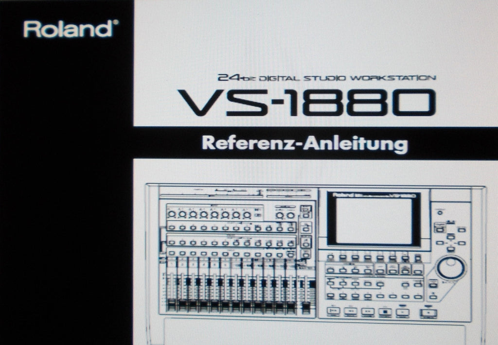 ROLAND VS-1880 DIGITAL STUDIO WORKSTATION REFERENZ-ANLEITUNG 281 PAGES DEUT