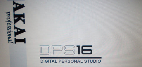 AKAI DPS16 DIGITAL PERSONAL STUDIO OPERATOR'S MANUAL 198 PAGES ENG