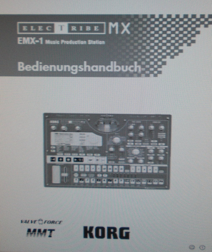 KORG EMX-1 ELECTRIBE MX MUSIC PRODUCTION STATION BEDIENUNGSHANDBUCH INC BLOCKDIAGRAMME CONN DIAGS UND FEHLERSUCHE 98 PAGES DEUT