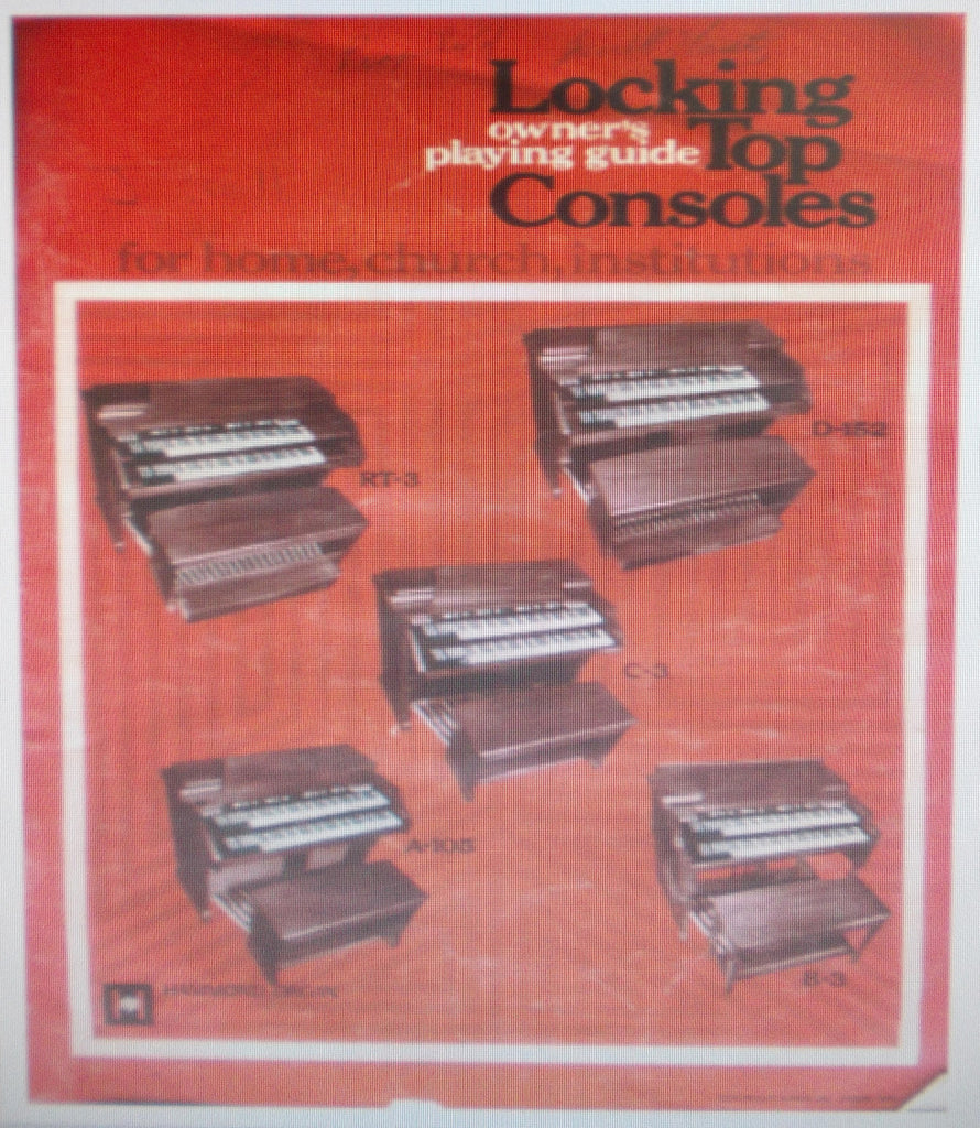 HAMMOND LOCKING TOP CONSOLES ORGAN OWNER'S PLAYING GUIDE 42 PAGES ENG