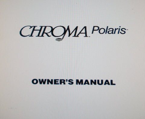 FENDER CHROMA POLARIS SYNTHESIZER OWNER'S MANUAL INC TRSHOOT GUIDE 129 PAGES ENG