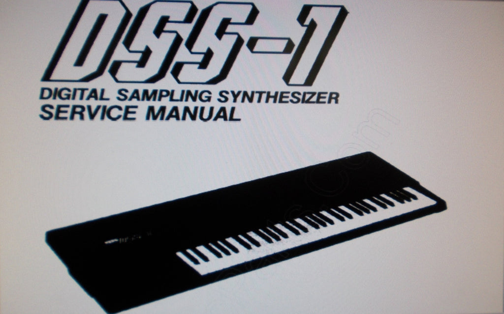 KORG DSS-1 DIGITAL SAMPLING SYNTHESIZER SERVICE MANUAL INC BLK DIAGS SCHEMS PCBS AND PARTS LIST 71 PAGES ENG