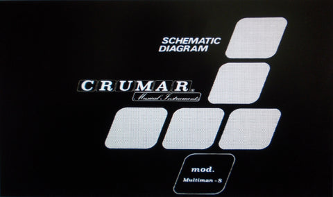 CRUMAR MULTIMAN S ORCHESTRATOR POLYPHONIC STRING SYNTHESIZER SET OF SCHEMATIC DIAGRAMS AND PCBS 21 PAGES ENG