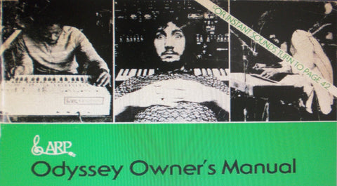 ARP ODYSSEY SYNTHESIZER OWNER'S MANUAL 58 PAGES ENG