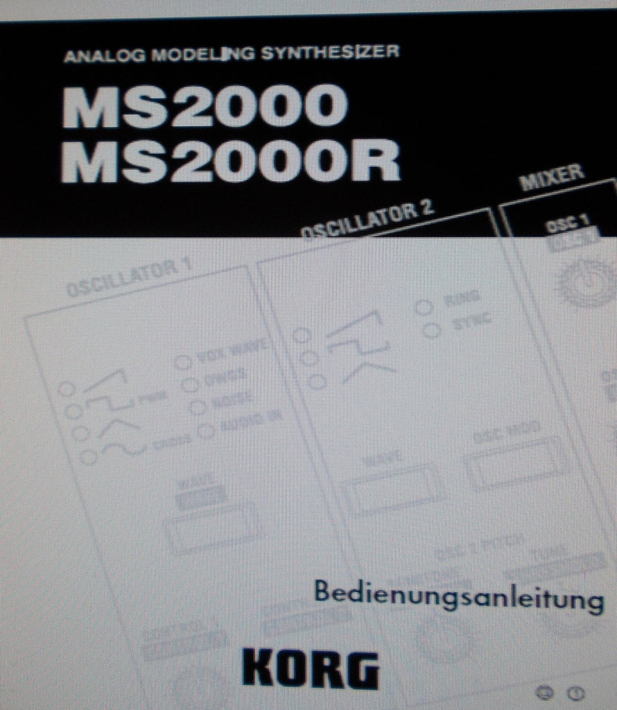 KORG MS2000 MS2000R ANALOG MODELING SYNTHESIZER BEDIENUNGSANLEITUNG INC FEHLERSUCHE 83 PAGES DEUT