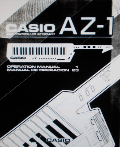 CASIO AZ-1 MIDI CONTROLLER KEYBOARD OPERATIONAL MANUAL 25 PAGES ENG