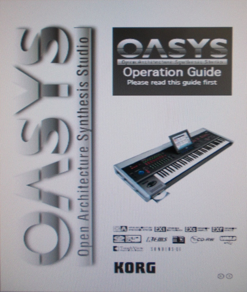 KORG OASYS OPEN ARCHITECTURE SYNTHESIS STUDIO V1.1 OPERATION GUIDE INC TRSHOOT GUIDE 235 PAGES ENG